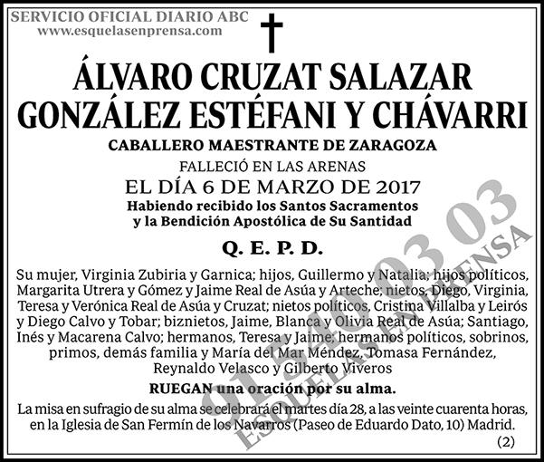 Álvaro Cruzat Salazar González Estéfani y Chávarri